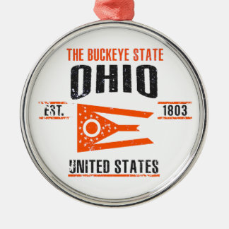 Ohio Silbernes Ornament