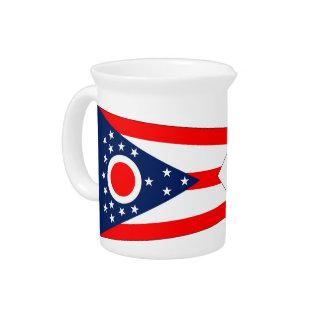 Ohio-Staats-Flaggen-Krug Getränke Pitcher