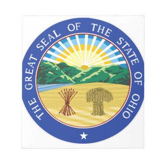 Ohio-Staats-Siegel Notizblock