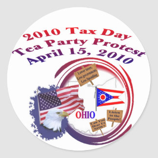 Ohio-Steuer-Tagestee-Party-Protest Runde Sticker