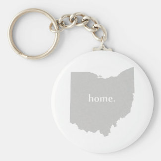 Ohio-Zuhause-Silhouette-Staatskarte Schlüsselanhänger