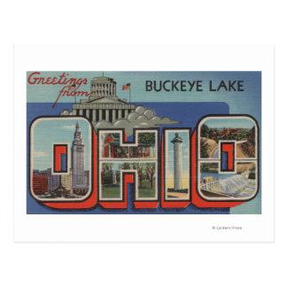 OhioBuckeye LakeLarge Buchstabe ScenesOhio Postkarte