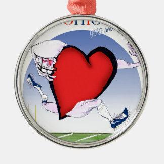 Ohiohauptherz, tony fernandes silbernes ornament