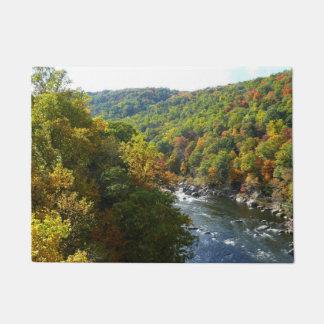 Ohiopyle Fluss dem Herbst in des Fall-II Türmatte