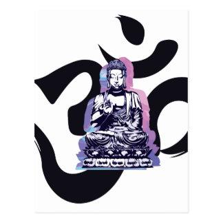 Ohm Buddha Postkarte