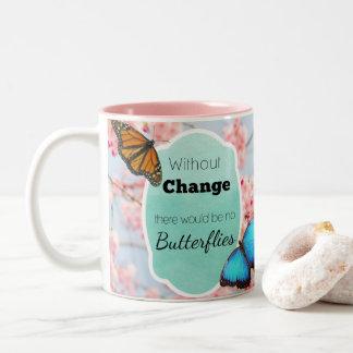 Ohne Änderung zitieren keine Schmetterlinge rosa Zweifarbige Tasse