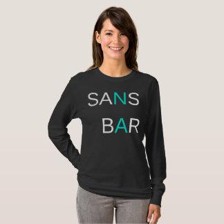 Ohne Bar-Schwarzes Longsleeve T-Shirt