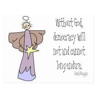 Ohne Gott wird Demokratie nicht und kann nicht Postkarte