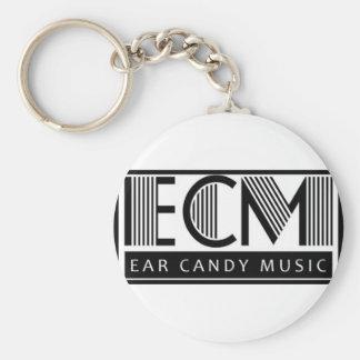 Ohr-Süßigkeits-Musik-Schlüsselring Standard Runder Schlüsselanhänger