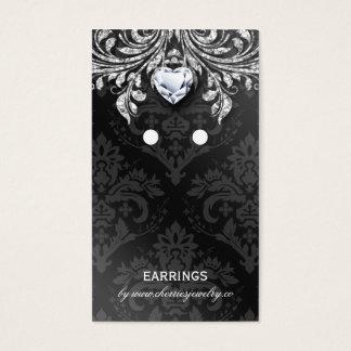 Ohrring-Anzeige kardiert Vintagen Damast-Schmuck Visitenkarte