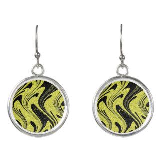 Ohrring-gelber Tiger-Kreis-Tropfen Ohrringe