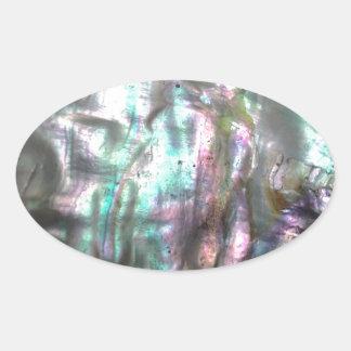 Ohrschnecken-Muschel Ovaler Aufkleber