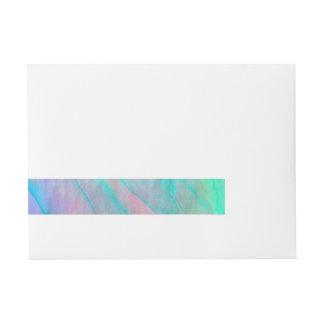 Ohrschnecken-Muschelwatercolor-Perlmutt Rundum-Adressaufkleber