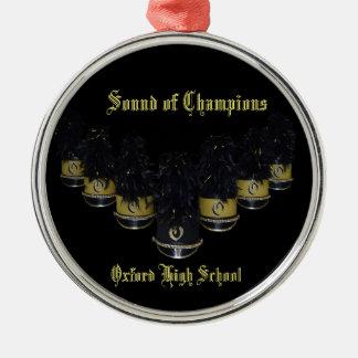 OHS Band-Verzierung 3 Silbernes Ornament