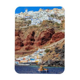 Oia-Dorf auf Santorini Insel, Nord, Griechenland Magnet