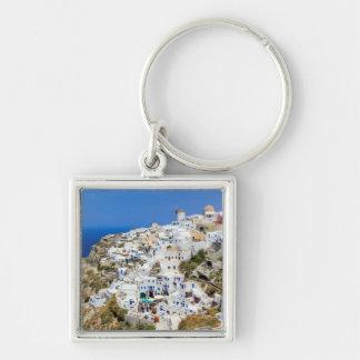 Oia-Dorf auf Santorini Insel, Nord, Griechenland Schlüsselanhänger