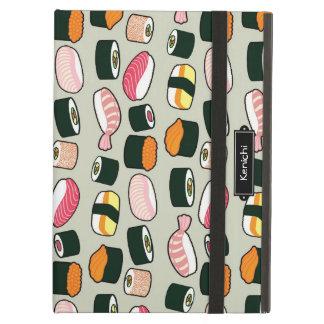 Oishii Sushi-Spaß-Illustrations-Muster (grau)