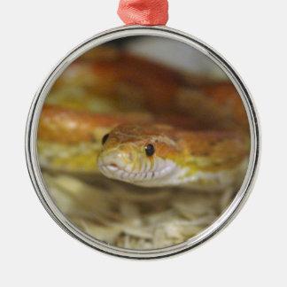 oj die Schlange Rundes Silberfarbenes Ornament