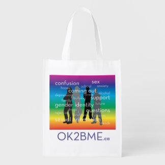 OK2BME wiederverwendbare Tasche Wiederverwendbare Einkaufstaschen
