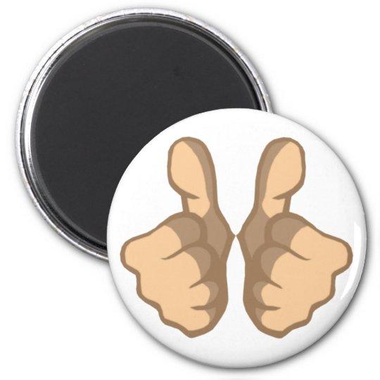 OK Daumen hoch thumbs up Runder Magnet 5,1 Cm
