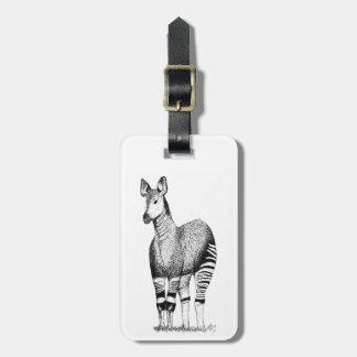 Okapi-Kunst-Gepäckanhänger Gepäckanhänger