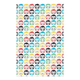 Okiiyo Regenbogen-Muster Bedrucktes Büropapier