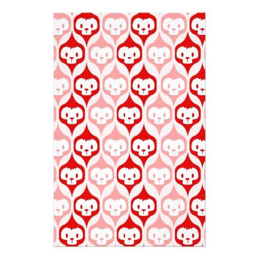 Okiiyo rote Muster-Liebe Büropapiere