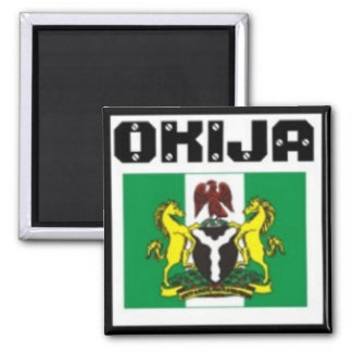 Okija, Ihiala, Anambra Staat, Nigeria-T - Shirt u. Quadratischer Magnet
