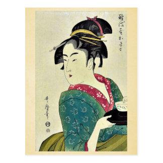 Okita von Naniwa ya durch Kitagawa, Utamaro Ukiyoe Postkarte