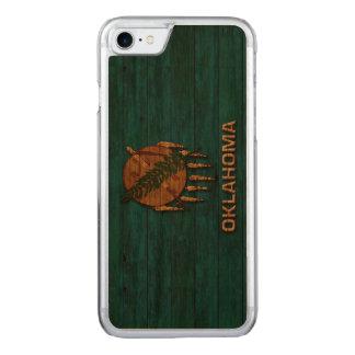 Oklahoma-Flagge Vintag Carved iPhone 8/7 Hülle