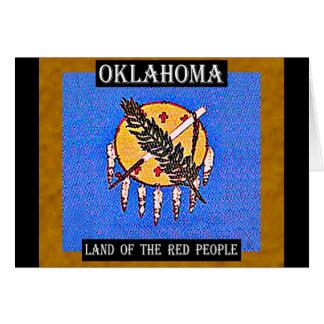 Oklahoma-Land der roten Leute Karte