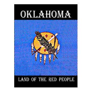 Oklahoma-Land der roten Leute Postkarte
