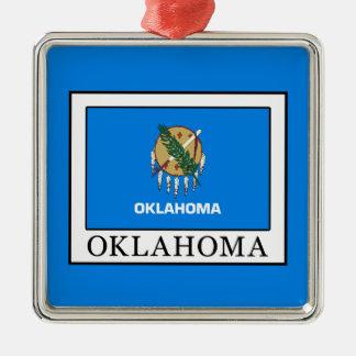 Oklahoma Quadratisches Silberfarbenes Ornament