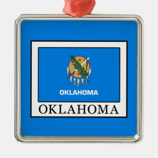 Oklahoma Silbernes Ornament