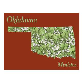 Oklahoma-Staats-Blumen-Collagen-Karte Postkarten