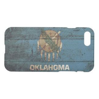 Oklahoma-Staats-Flagge auf altem hölzernem Korn iPhone 8/7 Hülle