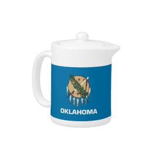 Oklahoma-Staats-Flaggen-Teekanne