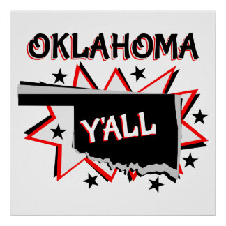 Oklahoma-Staatsstolz Sie Poster