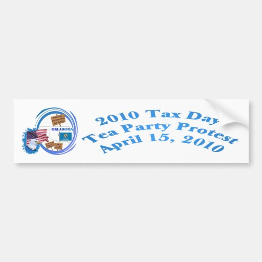 Oklahoma-Steuer-Tagestee-Party-Protest Auto Sticker