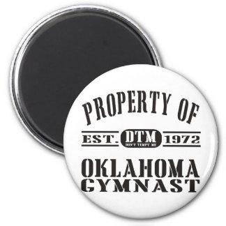 OklahomaGymnast Runder Magnet 5,7 Cm