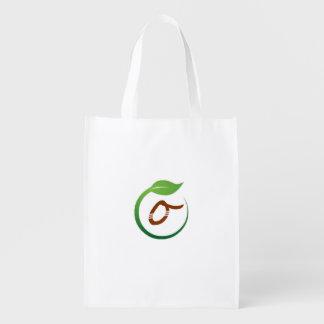 Öko-Grüner Lebensstil-zurückführbare Tasche Tragetaschen