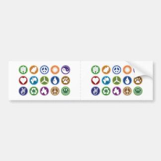 Öko-Symbole Autoaufkleber