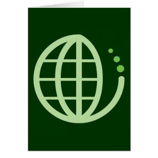 Ökoerde: gehen Grün Karte