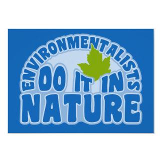 Ökologen Einladung, fertigen besonders an 12,7 X 17,8 Cm Einladungskarte