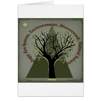 Ökologie-Baum, denke ökologisch Karte