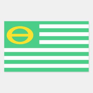 Ökologie-Grünflagge Vereinigter Staaten Amerika Rechteckiger Aufkleber