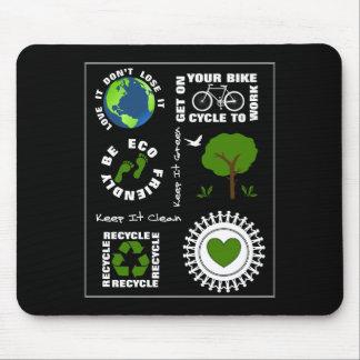 Ökologisch geht Themed Liebe-Planeten-Erde die Mousepad