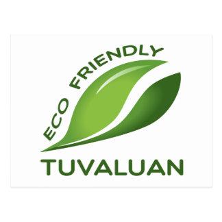 Ökologischer Tuvaluan. Postkarte
