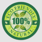 Ökologisches 100% natürlich runder aufkleber