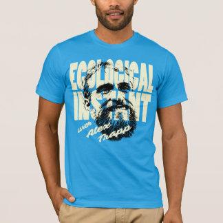 Ökologisches sofortiges mutiges und blau T-Shirt